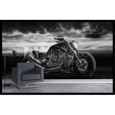 Murale - Moto noir et blanc