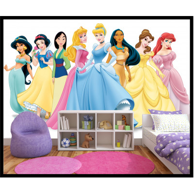 Murale - Les Princesses