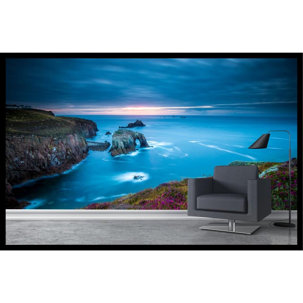 appliqu mural bord de mer fleuri. Black Bedroom Furniture Sets. Home Design Ideas