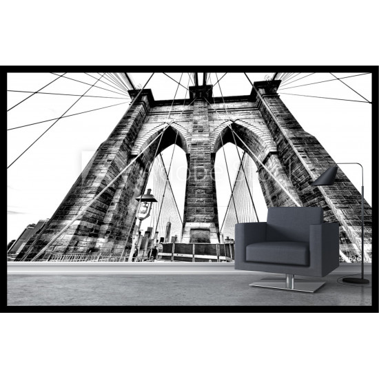 Mural wallpaper sticker brooklyn bridge for Brooklyn bridge mural wallpaper