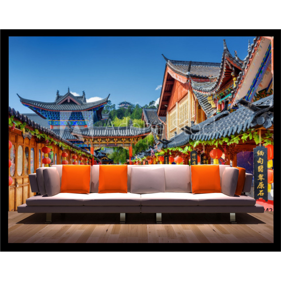 Mural wallpaper sticker china for Mural de chine