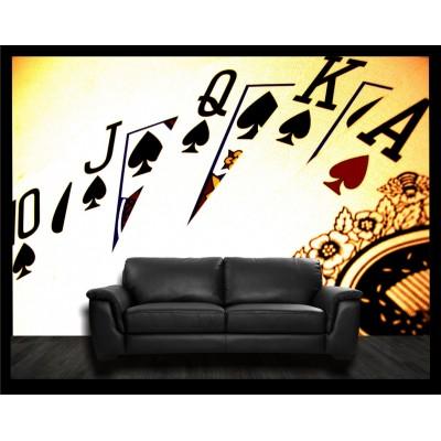 Murale - Cartes poker
