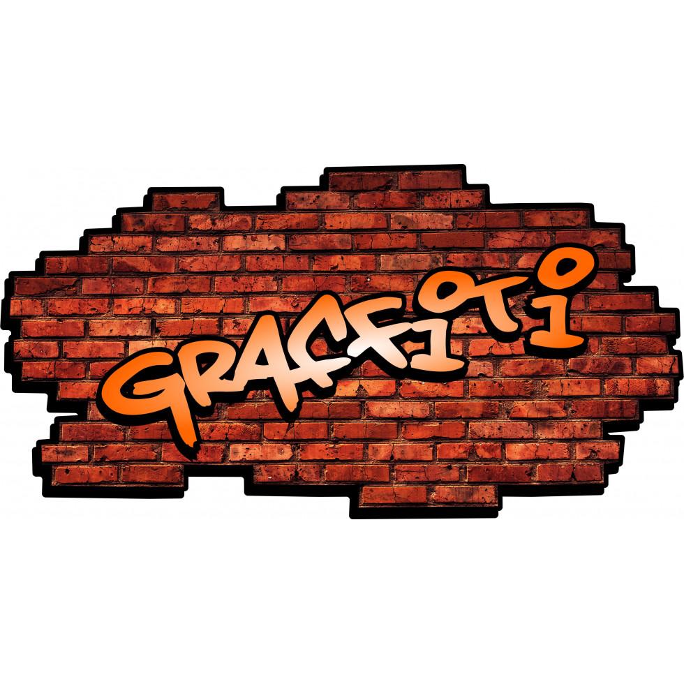 Sticker mural autocollant personnalis - Lettre graffiti modele ...
