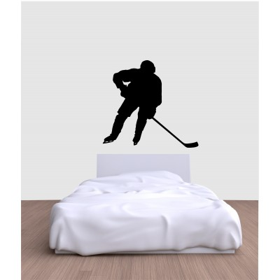 Sticker mural - Joueur de hockey