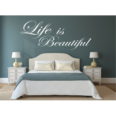 Texte mural - Life is beautiful