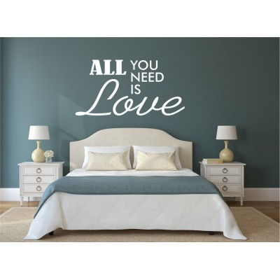 Texte mural - All you need is love