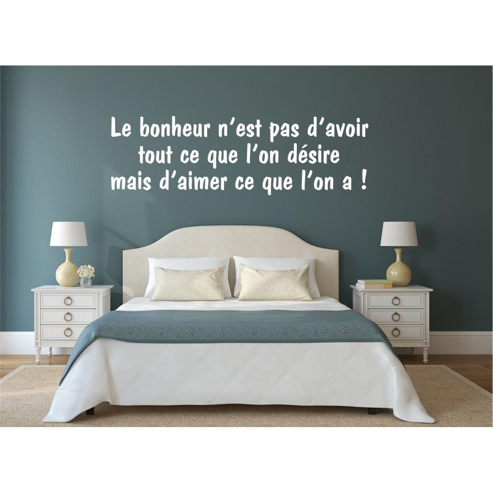 Texte mural le bonheur for Boutique hotel qu est ce que c est